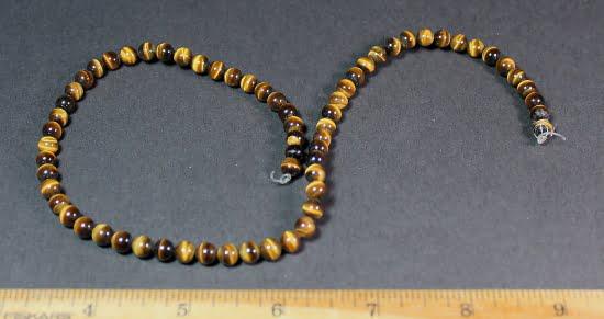 B202C Tiger Eye Round Beads
