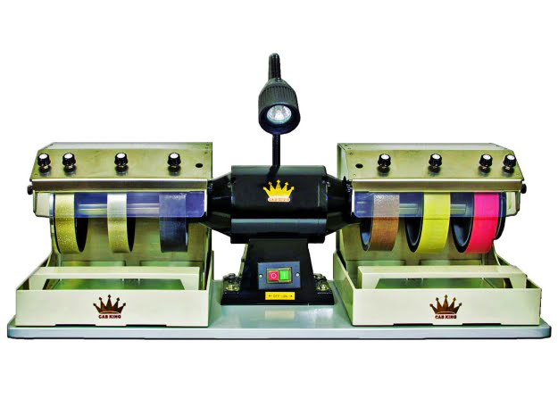 "CabKing-8V1 8"" Diameter Diamond Wheel Grinding and Polishing Machine"