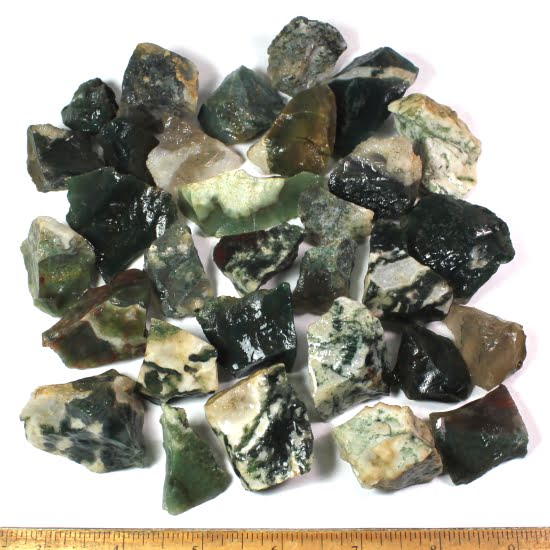 India Green Tree and Moss Agate