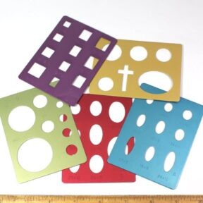 Set of 5 Colored Templates