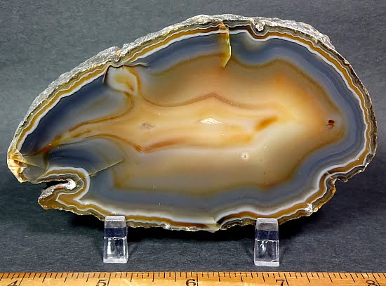 Natural Brazilian Agate Geode slab