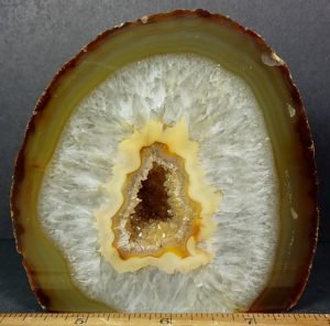 Natural Brazilian Agate Geode end