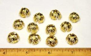 12 Gold Color Leaf Bails