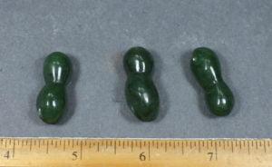 3 Jade Peanut Beads