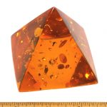 Pyramid made from Reconstituted Amber