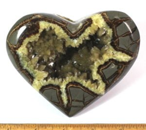 Heart carved from Septarian nodule from Utah