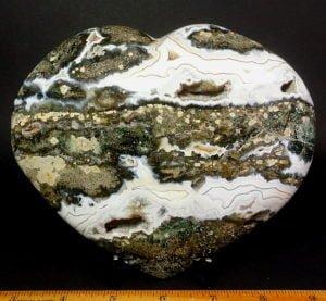 Sea Jasper heart from Madagascar