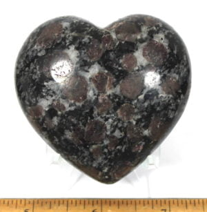 Heart made from Spinel from India