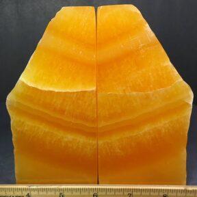 Orange Calcite Bookends