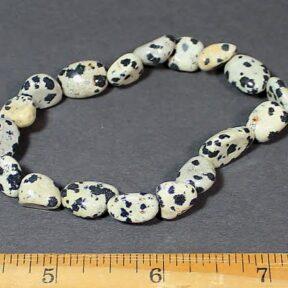 Dalmatian Stone stretch bracelet