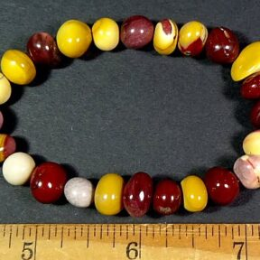 Mookaite Jasper bead stretch bracelet from Australia