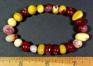 Mookaite Jasper bead stretch bracelet from Australia