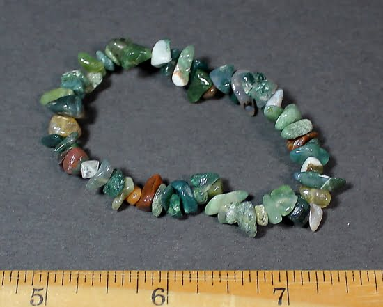 Fancy Jasper chip bead bracelet