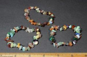 stretchy mixed rock chip bead bracelet