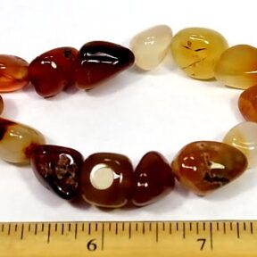 Carnelian Agate stretch bracelet with chunky beads