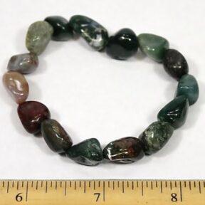 Indian Jasper stretch bracelet with gemstone chunky beads