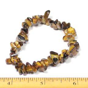 Tiger Eye stretch bracelet with gemstone chip beads