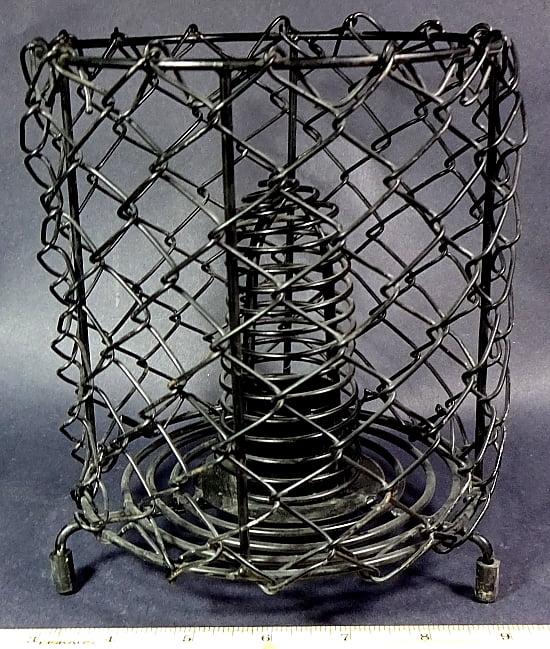 Wrought Iron 3 legged round lamp stand