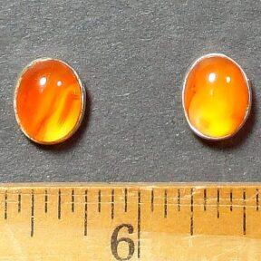 Carnelian Earrings mounted in a Sterling Silver setting