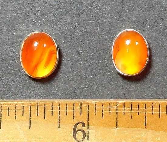 Carnelian Earrings mounted in a Sterling Silver setting