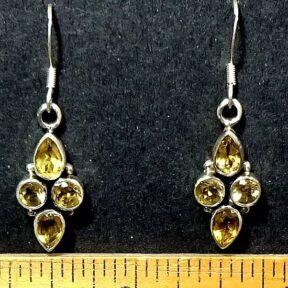 Citrine Earrings mounted in a Sterling Silver setting