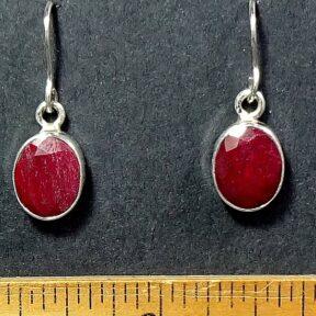 Ruby Earrings mounted in a Sterling Silver setting