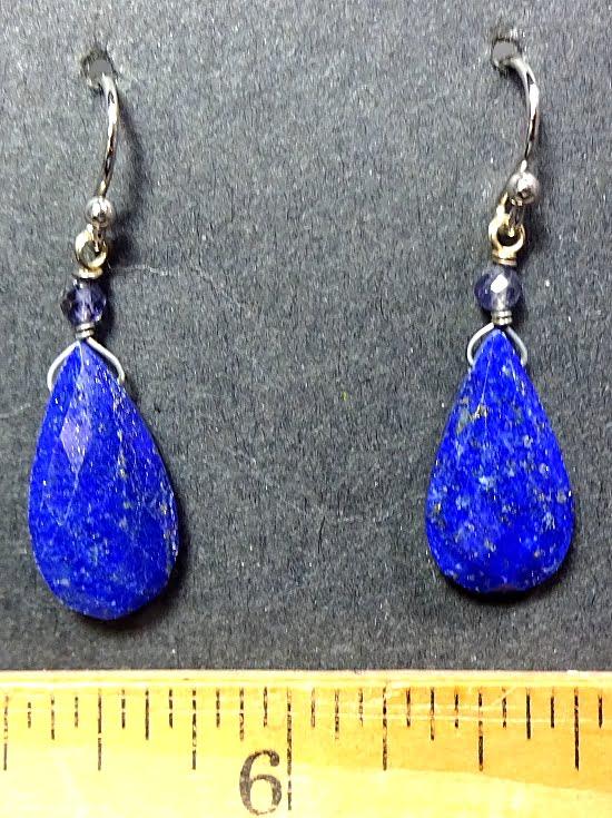 Lapis Lazuli and Iolite Earrings