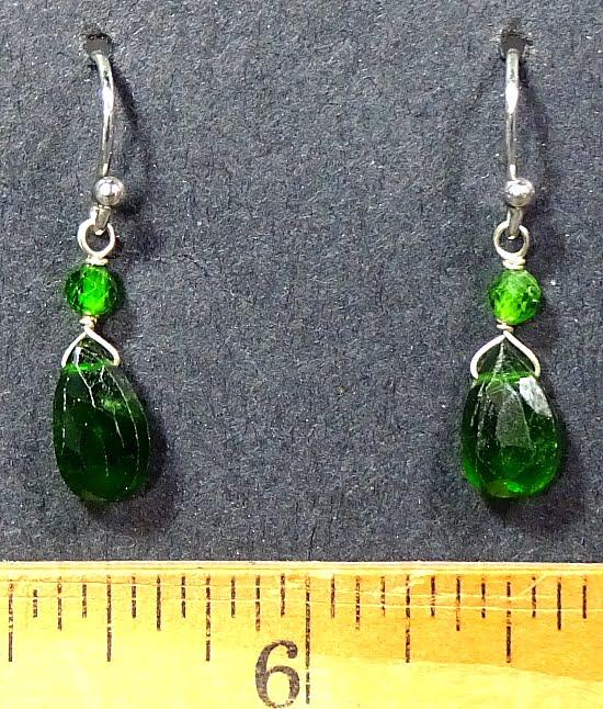 Chrome Diopside Earrings