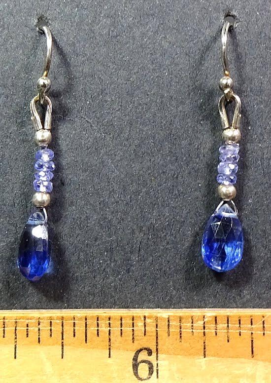 Kyanite and Tanzenite Earrings