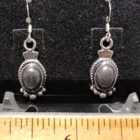 Hematite Earrings mounted in a Sterling Silver setting