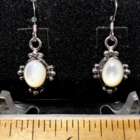 Mother-of-Pearl Earrings mounted in a Sterling Silver setting