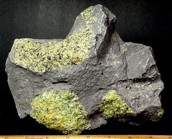 Peridot in a Basalt matrix from Arizona