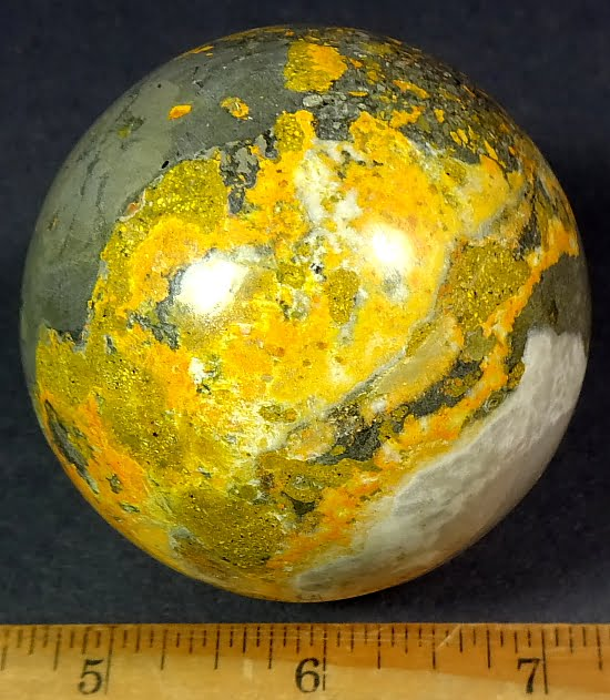Bumble Bee Jasper sphere from India