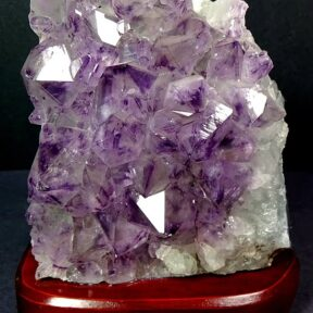 Light made from Amethyst Cluster from Brazil
