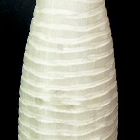 White Selenite tower lamp