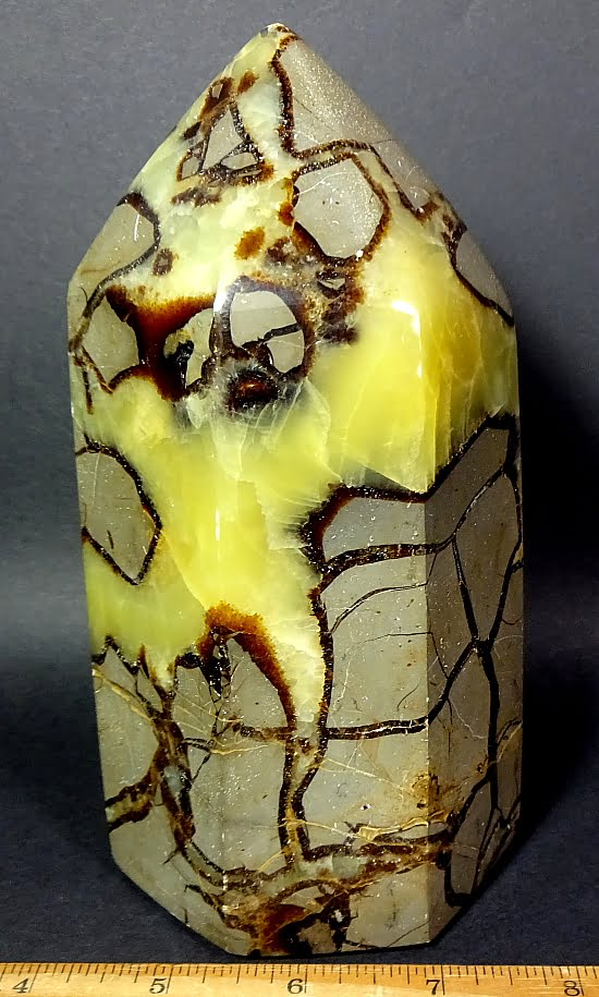 Free Form made from a Septarian Nodule from Madagascar