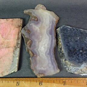 Purple Passion, Rhodenite, and Pietersite Slabs