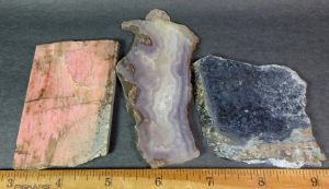 Purple Passion, Rhodenite, and Pietersite Slabs